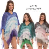 24 Units of Multi-colored Sheer Top - Womens Fashion Tops