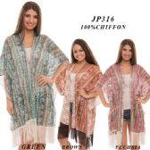 24 Units of Ladies Multi-color Sheer Cardigan - Womens Fashion Tops