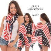 24 Units of Ladies Flag Scarf/Top - Womens Fashion Tops