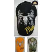 36 Units of Deer Skull Hat [PREDATOR on Bill] - Hunting Caps