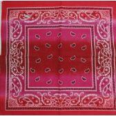 120 Units of Bandana-Pink Paisley Fade - Bandanas