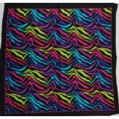 120 Units of Bandana-Rainbow Zebra Print - Bandanas