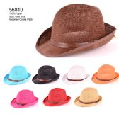 24 Units of Straw hat with strap - Sun Hats