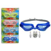 288 Units of Swim Goggles W/Nose Plug+Ear Packing