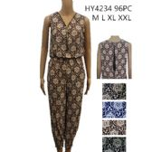 48 Units of Womans Romper Printed Assorted Color - Womens Romper / Outfit Sets