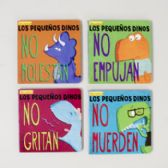 48 Units of Board Book Spanish Little Dinos - Educational Toys