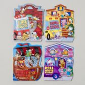 48 Units of Board Books Fan Tab U Lus 4 Asstd Kitties,dogs,pirate Animal School Bus In Pdq - Educational Toys