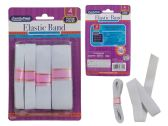96 Units of 4PC WHITE ELASTIC BAND - Sewing Supplies