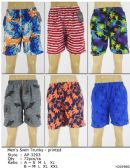 72 Units of Men's Assorted Printed Bathing Suit