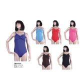 72 Units of Solid Color 1PC SWIMSUIT ON HANGER - Womens Swimwear