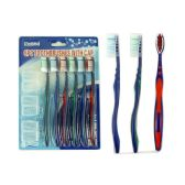 144 Units of TOOTHBRUSH 6PC/SET W/CAP ASST COLOR - Toothbrushes