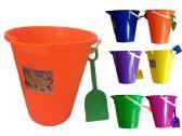 "96 Units of 9"" Plastic Bucket W/Shovel - Beach Toys"