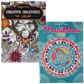48 Units of Adult Coloring Book 32pg 2 Asst Henna And Mandala In Pdq - Coloring & Activity Books