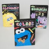 48 Units of Sesame Street Wipe Off Workbooks 3 Asstd In Floor Display - Educational Toys