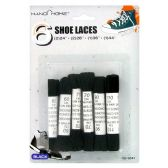 72 Units of 6PC. BLACK SHOE LACES 2PC. 24IN 2PC. 28IN 1PC. 35IN 1PC. 43