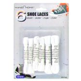 72 Units of 6PC. WHITE SHOE LACES 2PC. 24IN 2PC. 28IN 1PC. 35IN 1PC. 43