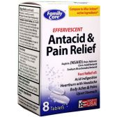 72 Units of EFFERVESCENT ANTACID & PAIN RELIEF 8 CT - Medical Supply