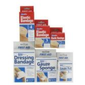 144 Units of 144 CT FIRST AID BANDAGE CENTER