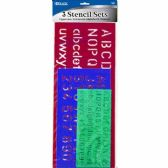 144 Units of 3 PC LETTER STENCIL - Classroom Learning Aids