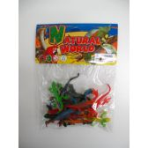 108 Units of 12 PC PLASTIC LIZARDS IN POLY BAG W/HEADER - Animals & Reptiles