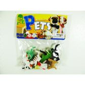 "108 Units of 12PC 2"" PLASTIC CATS IN POLY BAG W/HEADER - Animals & Reptiles"