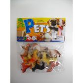 "108 Units of 12PC 2"" PLASTIC DOGS IN POLY BAG W/HEADER - Animals & Reptiles"