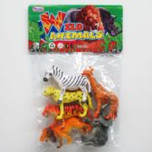"48 Units of 6PC 4""-5"" ASSORTED WILD TOY ANIMALS - Animals & Reptiles"