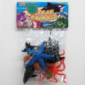 "48 Units of 6PC 3""-5"" ASSORTED OCEAN TOY ANIMALS - Animals & Reptiles"