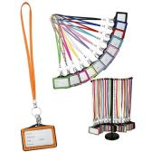 72 Units of CRYSTAL NAME TAG LANYARDS ASSORTED COLORS