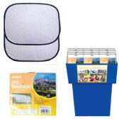 144 Units of AUTO SUN SHADE 2PACK 34X44CM