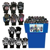 60 Units of ADULT GLOVES ASSORTED 60 PER BIN ASSORTED STYLES + COLORS