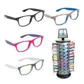 144 Units of DSD - NERD LENSELESS GLASSES WITH DISPL ASSORTED STYLES