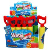 "144 Units of 8""Lx2""D WATER PUMP W/4"" HANDLE IN DISPLAY ASSORTED COLORS - Water Guns"