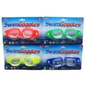 144 Units of SWIMMING GOGGLES 4ASST. COLORS - Summer Toys