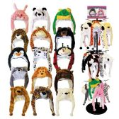 48 Units of ANIMAL HEAD HATS ASSORTED STYLES MIXED CASE - Winter Animal Hats