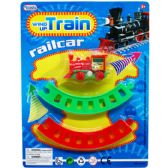"48 Units of 2.75"" WIND UP MINI TRAIN W/TRACKS IN BLISTER CARD"