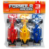 "48 Units of 3 Piece ""Formula Racers"" Action Cars"