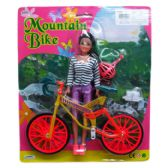 36 Units of DOLL WITH MOUNTAIN BIKE - Dolls