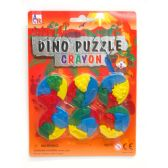72 Units of Dino Puzzle Crayon