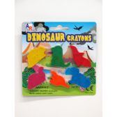 72 Units of 6 PCS DINO CRAYON SET - Chalk,Chalkboards,Crayons