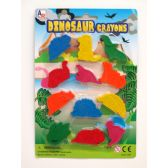 72 Units of 12 Piece Dinosaur Play Set - Chalk,Chalkboards,Crayons