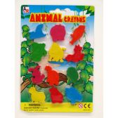 72 Units of 12 Piece Animal Crayon - Chalk,Chalkboards,Crayons