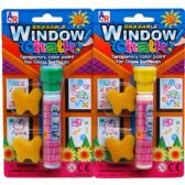 72 Units of ERASABLE WINDOW CHALK IN BLISTER CARD, ASSORTED - Chalk,Chalkboards,Crayons