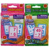 72 Units of 27 LEARNING FLASH CARDS(x & / ) 2ASST. IN PEG ABLE COLOR BOX