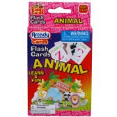 72 Units of 27 LEARNING FLASH CARDS(ANIMALS) 2ASST IN PEG ABLE COLOR BOX - Educational Toys