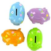 72 Units of PIGGY BANK CERAMIC OVAL ASSORTED BRIGHT COLORS - Coin Holders/Banks/Counter