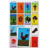 "72 Units of Mexican Bingo ""Loteria"" Play Set - Playing Cards, Dice & Poker"