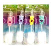 96 Units of BOTTLE BRUSH WITH BEAR DESIGN - Baby Accessories
