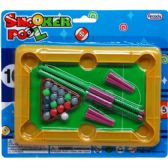 "96 Units of 7.5"" MINI SNOOKER POOL TABLE IN BLISTER CARD - Dominoes & Chess"