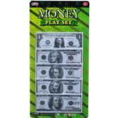 144 Units of 100 COUNT MINI MONEY PLAY SET IN BLISTER CARD - Toy Sets